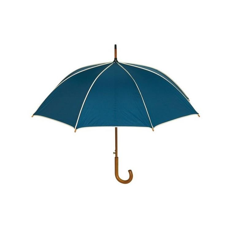 Parapluie automatique poignée bois publicitaire - Parapluie canne personnalisé