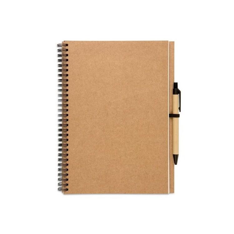 Cahier à spirales 70 pages écologique - Cahier avec logo