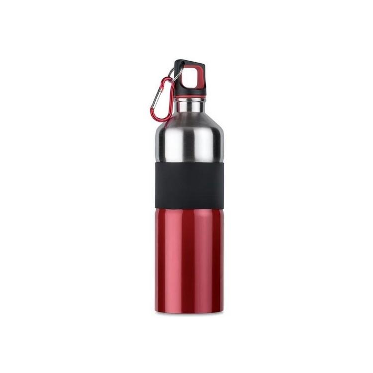 Bouteille acier et grip 750ml - Plein air avec logo