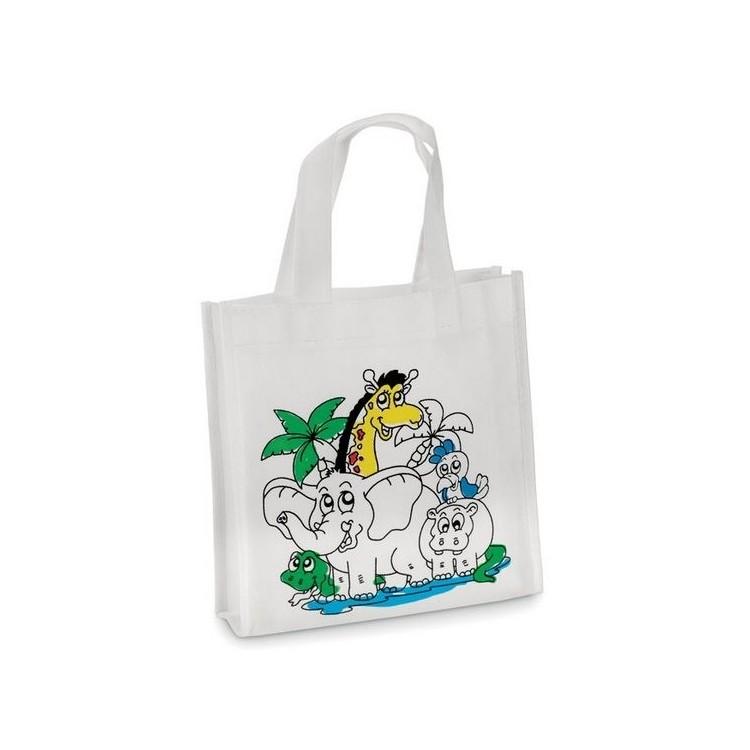 Mini sac shopping à colorier - Produits publicitaire