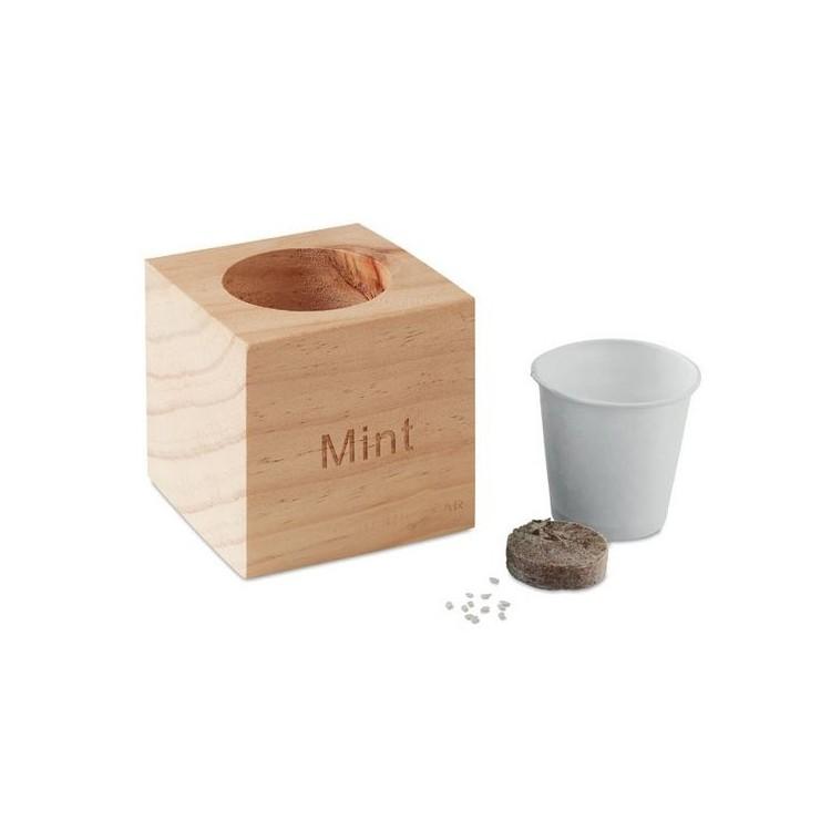 Pot avec graines de menthe - Ecologique publicitaire
