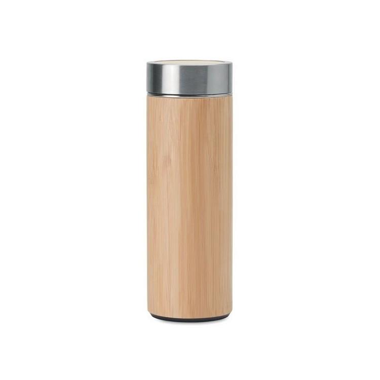 Gourde double paroi  Bambou - Produits personnalisé