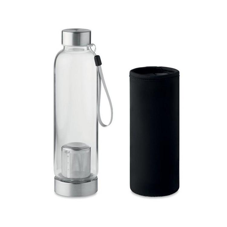 Bouteille en verre 50cl avec infuseur à thé - Produits avec logo