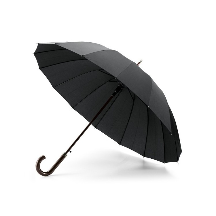 Parapluie luxe 16 baleines - Parapluie canne avec logo