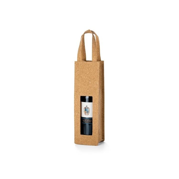 Sac liège pour 1 bouteille personnalisé - Ecologique personnalisable