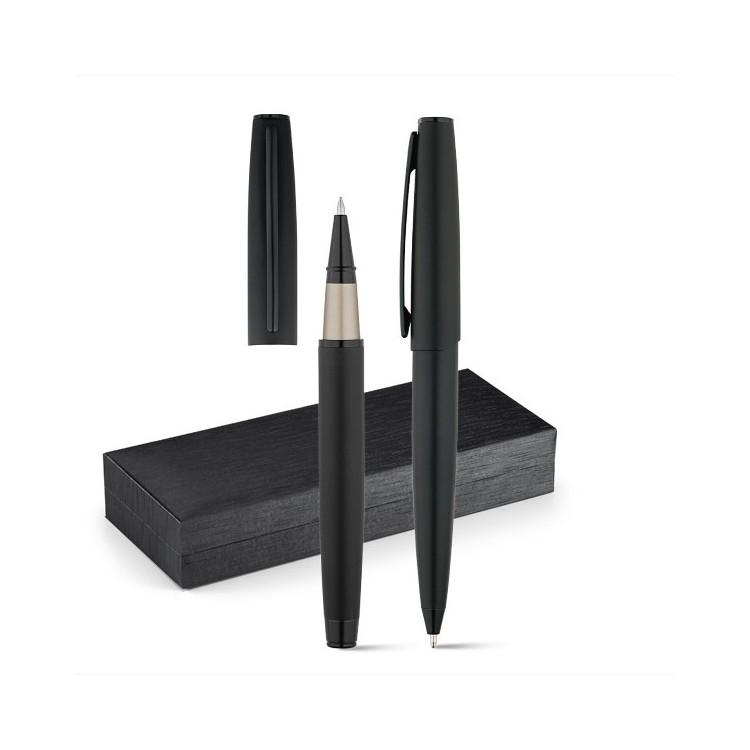 Parure stylo roller et stylo à bille personnalisé - Stylo roller personnalisable
