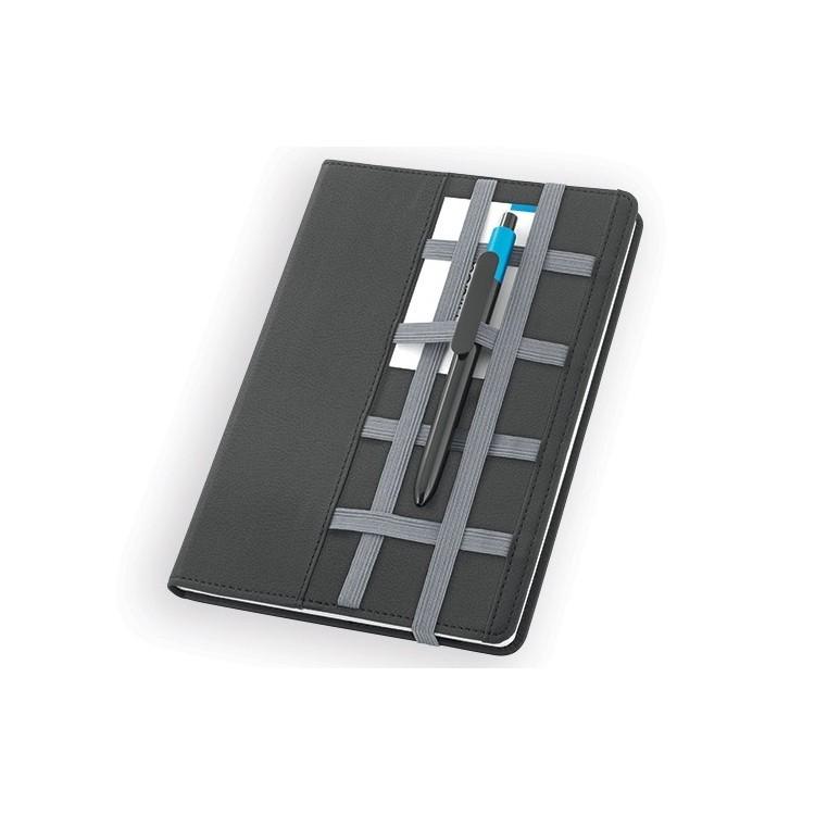 Carnet A5 avec élastiques 160 pages publicitaire - Carnet personnalisé