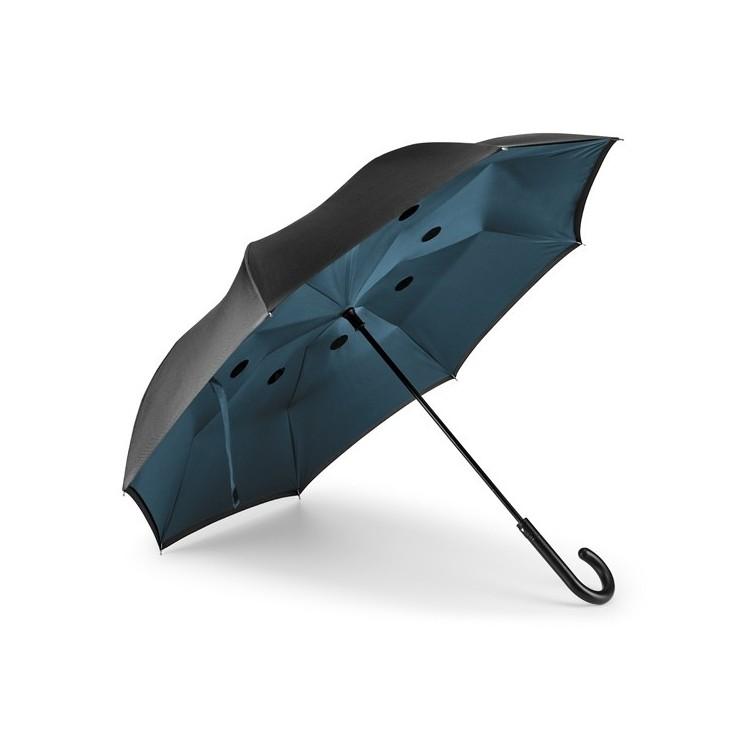 Parapluie réversible breveté - Parapluie canne avec logo