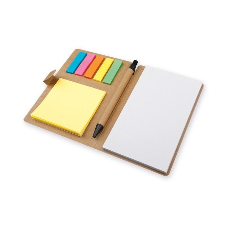 Ensemble carnet + bloc post-it + stylo 10 x 15cm - Produits avec logo