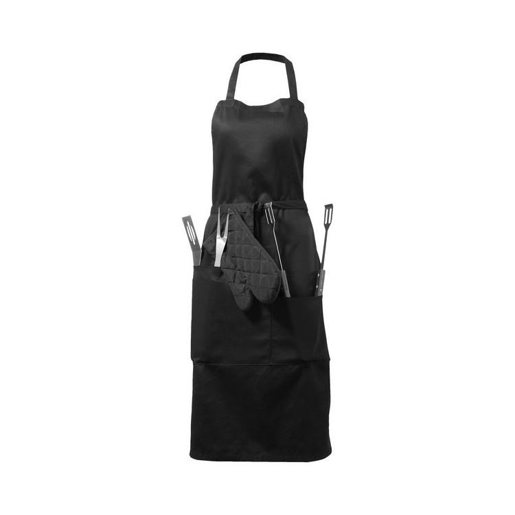 Tablier avec ustensiles barbecue et gant - Produits personnalisable