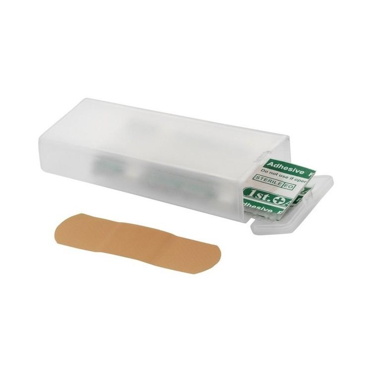Boîte transparente de 5 pansements - Produits avec logo