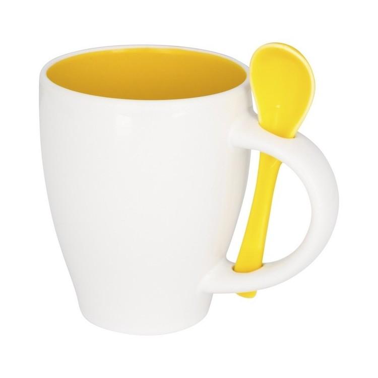 Tasse avec cuillère 250 ml - Produits personnalisable
