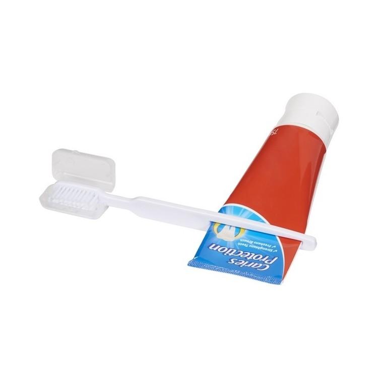 Brosse à dents avec presse-dentifrice - Produits avec logo