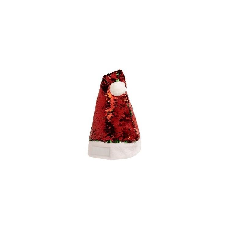 Chapeau de Noël à sequins - Noël avec logo