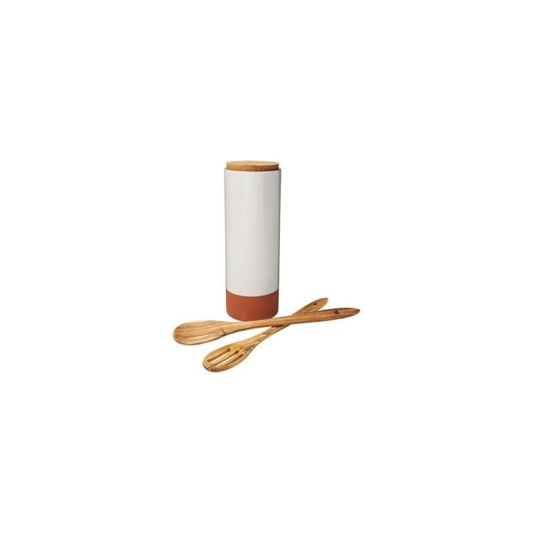 Porte-pâtes Terracotta avec cuillères - Arts de la table avec logo