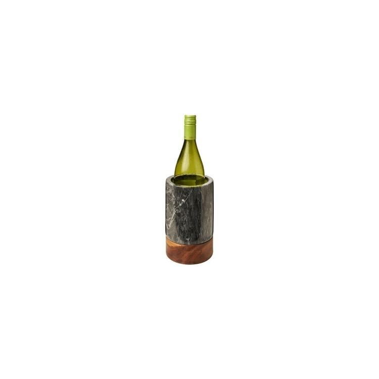 Seau à vin en marbre et bois personnalisé - Coffret pour le vin personnalisable