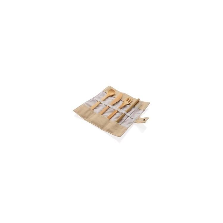 Set de couverts en bambou - Produits publicitaire