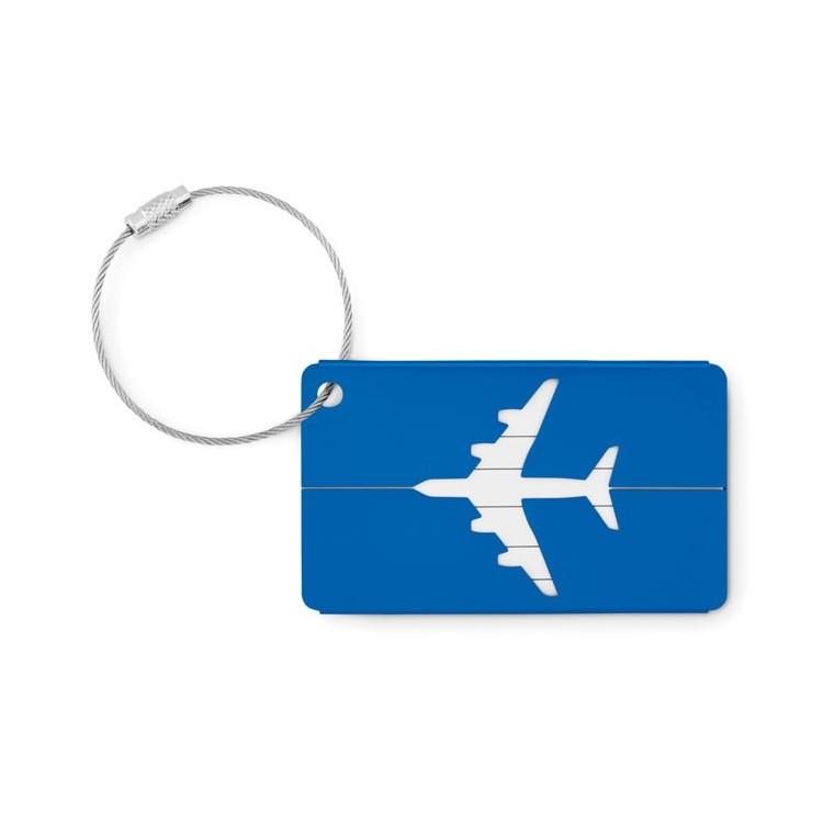 Etiquette à bagage en aluminium- FLY TAG publicitaire - Etiquette à bagage personnalisée