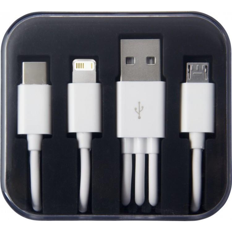Câble de chargement 3 en 1 - Câble publicitaire
