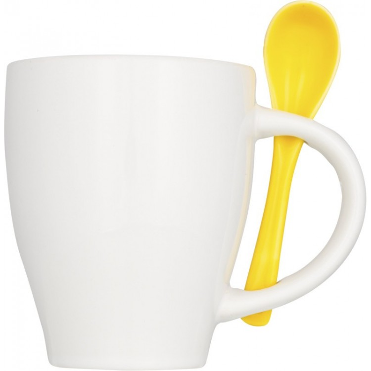 Tasse avec cuillère 250 ml personnalisé - Tasse personnalisable