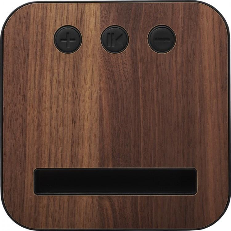 Enceinte Bluetooth® en tissu et bois personnalisé - Enceinte & haut-parleur personnalisable