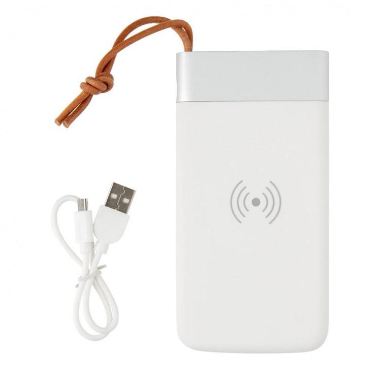 Batterie de secours 8000 mAh et induction 5W - Powerbank avec logo