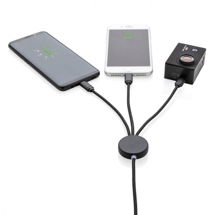 Câble 3 en 1 lumineux personnalisé - Câble personnalisable