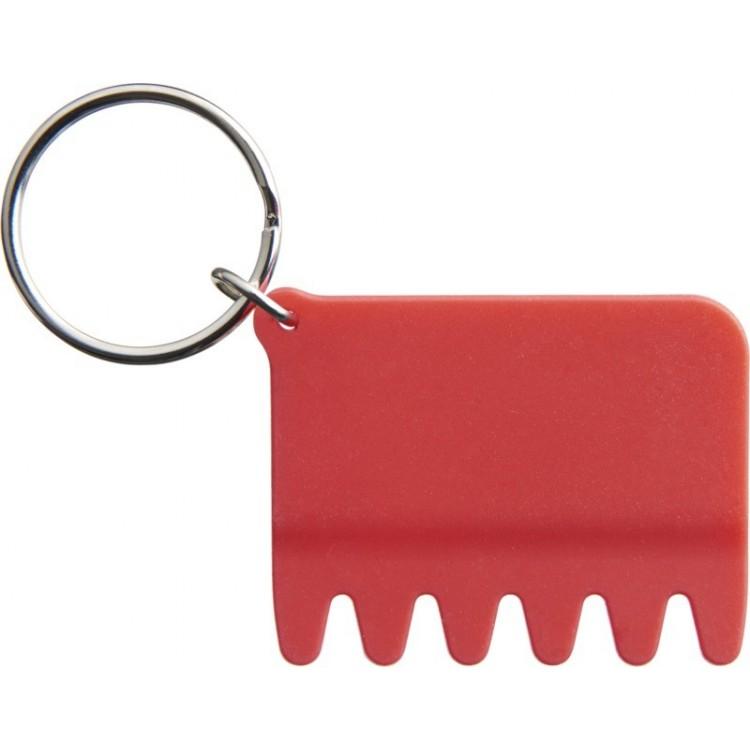 Brosse-clavier en silicone et porte-clés publicitaire - Porte-clé personnalisé