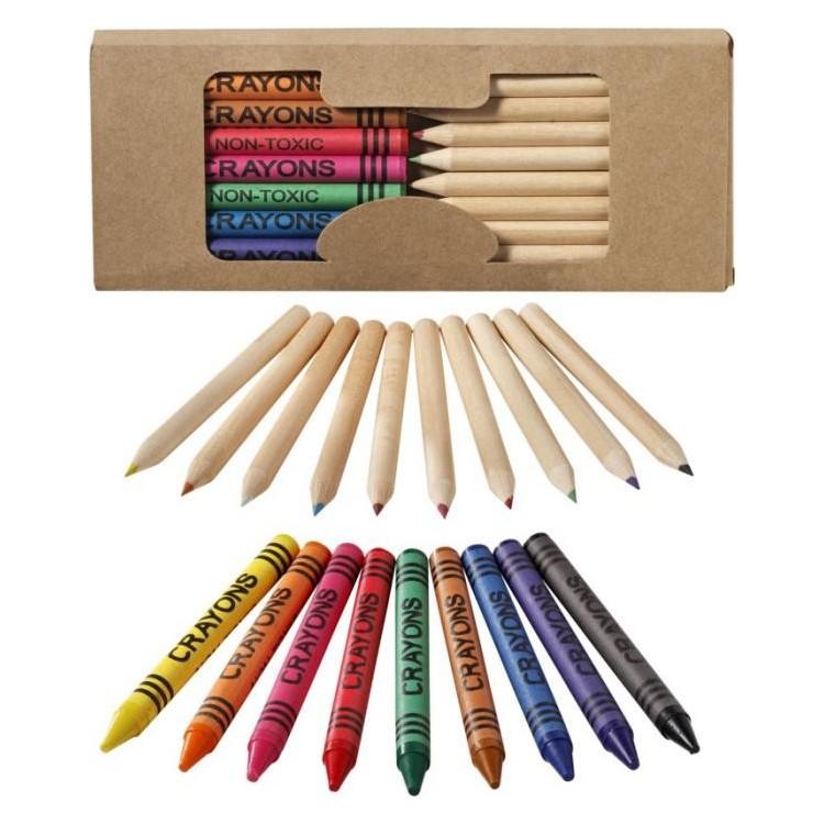 Kit de crayons colorés 19 pièces - Produits publicitaire