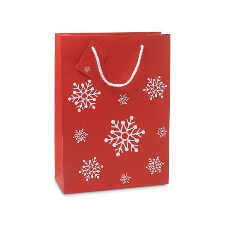 Sac cadeau grand format 26 x 36cm - Noël avec logo