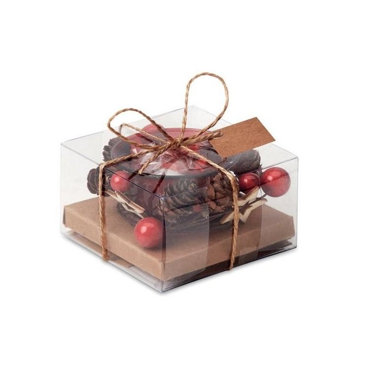 Bougeoir de Noël - Noël avec logo