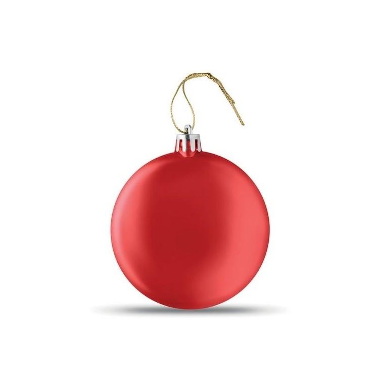 Boule de Noël plate - Noël publicitaire