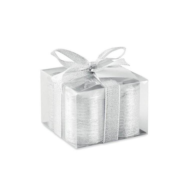 4 bougies argentées - Noël publicitaire
