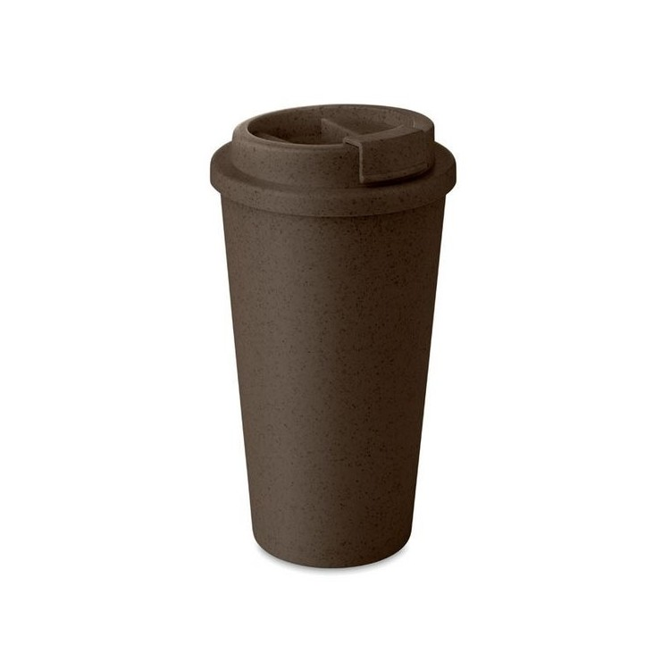 Gobelet double paroi Bambou/PP 475ml personnalisé - Mug isotherme personnalisable