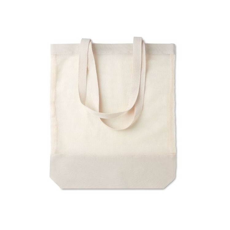 Sac shopping en filet coton 41x38x8cm - Ecologique publicitaire