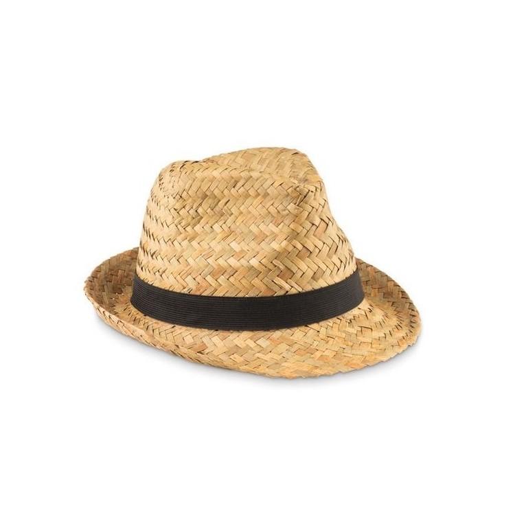 Chapeau en paille naturelle publicitaire - Chapeau personnalisé