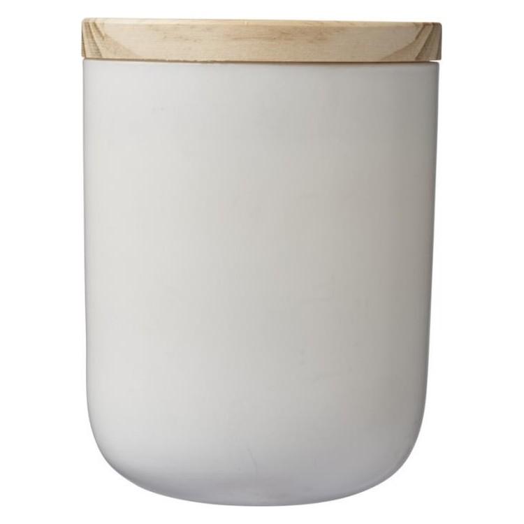 Bougie avec couvercle en bois publicitaire - Bougie personnalisée