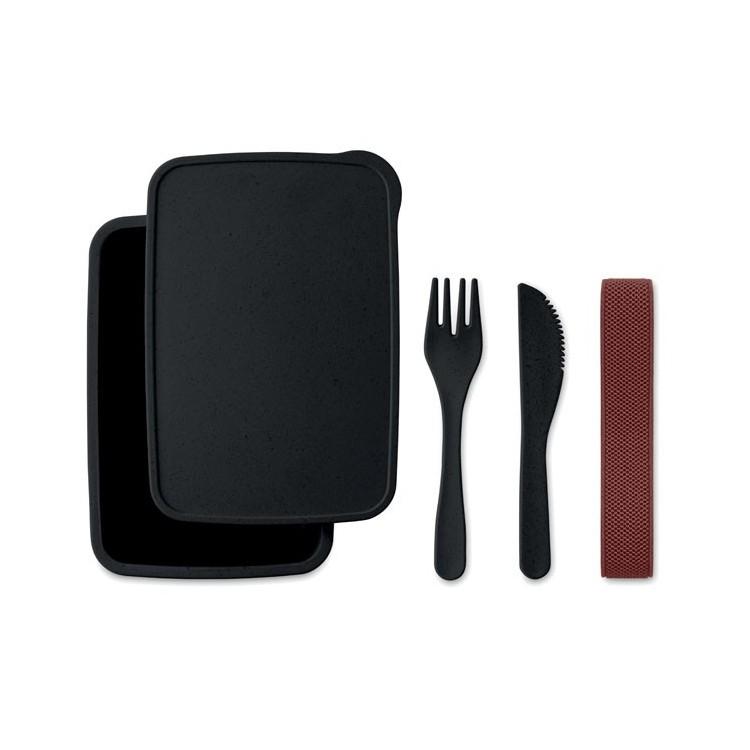 Lunch box en fibre de bambou - Arts de la table avec logo